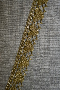 Blonde metalic 18 mm m/hjerter, gl.guld