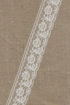 Nylonblonde hvid 40 mm.