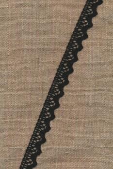 Bomulds-blonde 12 mm. i sort