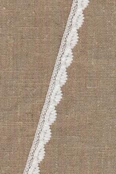 Rest Bomulds-blonde 12 mm. i hvid- 60 cm.