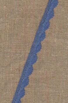 Bomulds-blonde 12 mm. i denim-blå