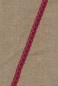 Bomulds-blonde 10 mm. i mørk rød