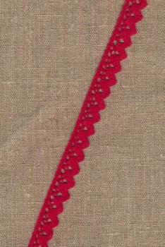 Bomulds-blonde 18 mm. i rød