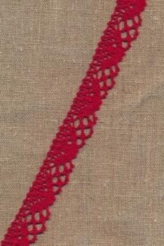 Bomulds-blonde 25 mm. i rød
