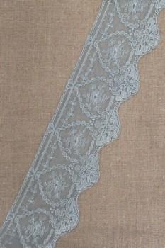 Spartel-/tyl blonde i vandgrøn, 75 mm.