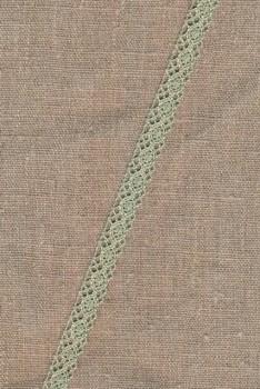 Bomulds-blonde 10 mm. lys støvet grøn