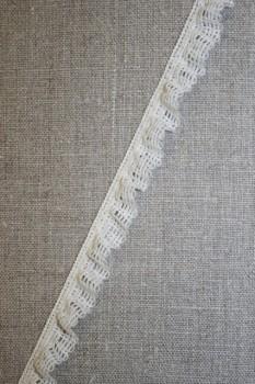 Kantelastik m/flæsekant, off-white