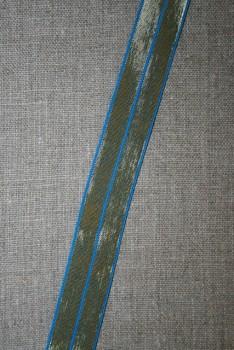 Foldeelastik m/guld klar blå