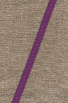 Foldeelastik med buet kant og prik, rød-lilla