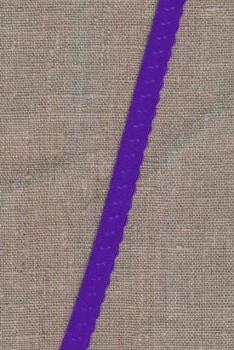Foldeelastik med buet kant og prik, lilla