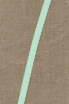 Foldeelastik med buet kant og prik, mint