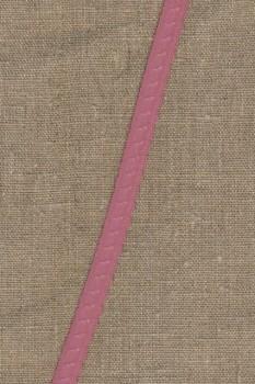 Foldeelastik med buet kant og prik, gammel rosa