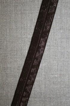 Foldeelastik mørkebrun