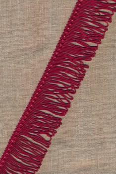 Frynsebånd dobbel 50 mm. i mørk rød