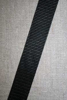 Nylon gjordbånd 40 mm. sort