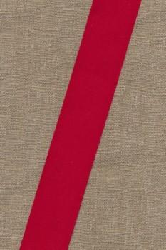 Rest Bomuldsbånd - Gjordbånd 40 mm. rød, 57+120 cm.