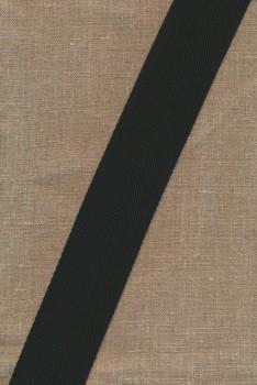 Rest Nylon gjordbånd i sildeben i sort 50 mm. - 45 cm.