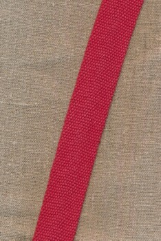 Kraftig gjordbånd 30 mm. støvet rød