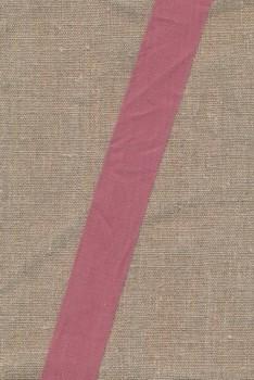 Bomulds-bånd sildebensvævet gl.rosa, 30 mm.