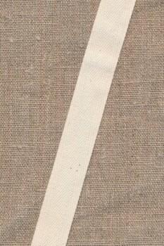 Gjordbånd/bændel sildebensvævet i off-white 19 mm.