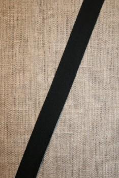 Bomuldsbånd/Gjordbånd sort, 20 mm.