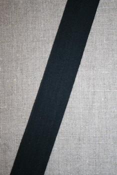 Bomuldsbånd - Gjordbånd 30 mm. sort
