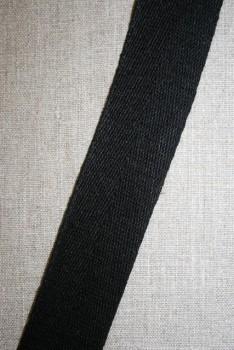 Hørgjord-bånd 40 mm. sort