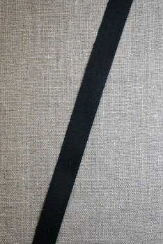 Bomuldsbånd/Gjordbånd sort, 15 mm.