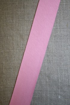 Kantbånd skråbånd i jersey, lyserød