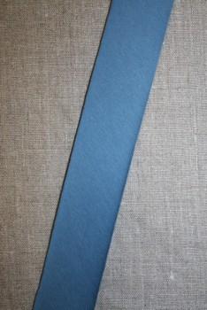Kantbånd skråbånd i jersey, denim blå