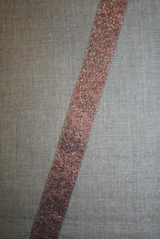 Lurex/lame-bånd kobber, 25 mm.