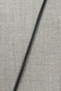 Ruskind snøre 3 mm. sort