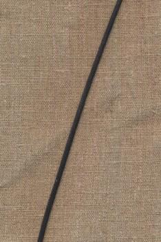 Lædersnor 2,3 mm. sort