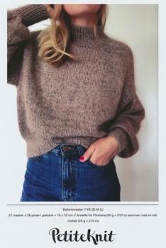 Ballonsweater - PetiteKnit strikkeopskrift