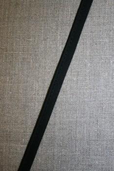 Paspoil bånd i bomuld, sort