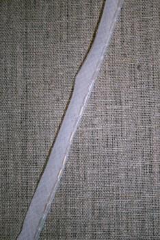 Paspoil-bånd hvid m/perler