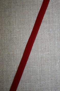 Elastisk Paspoil/piping-bånd mørk rød