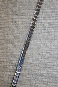 Pallietbånd gl. sølv - koksgrå