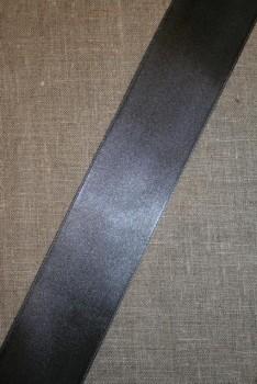 Satinbånd mørkegrå 48 mm.