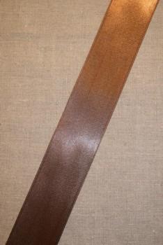 Satinbånd brun 48 mm.