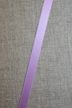 Satinbånd lyselilla 10 mm.