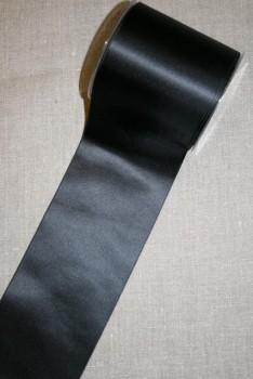 Satinbånd sort 100 mm.