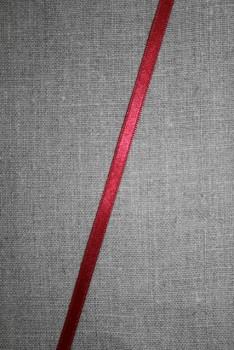 Satinbånd mørk rød 6 mm.