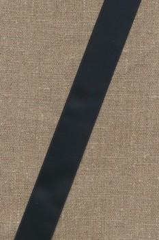 Satinbånd sort 25 mm.