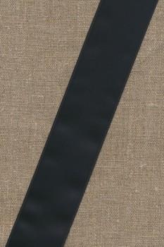 Satinbånd sort 40 mm.