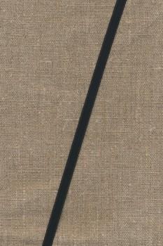 Satinbånd sort 6 mm.