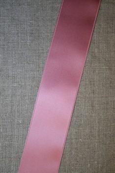 Satinbånd mørk gl. rosa 40 mm.