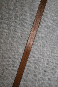 Satinbånd 10+25 mm. brun