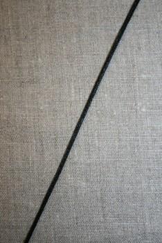 Satinsnor 2,2 mm. sort