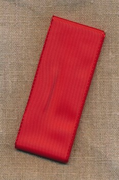 Silkebånd rød 40 mm. x 2½ meter